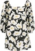 BA&SH Fire floral-print mini dress