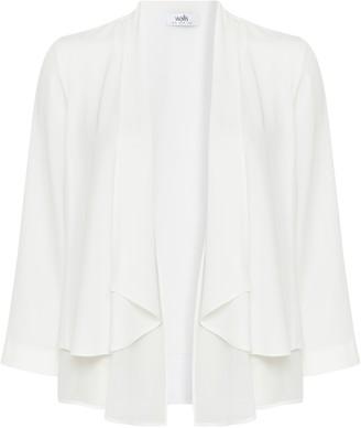 Wallis Ivory Chiffon Waterfall Jacket