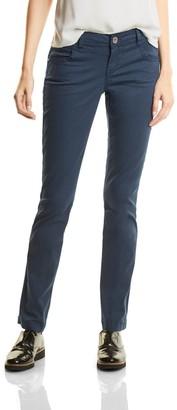 Street One Women's Yella Yoke MW Slimfit Straightleg Trousers