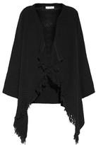 IRO Affy fringed open-knit cotton cardigan