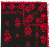 Alexander McQueen king and queen skull scarf