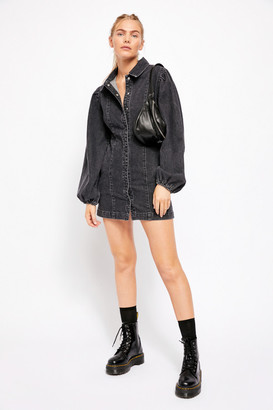 Free People Dark Denim Mini Dress