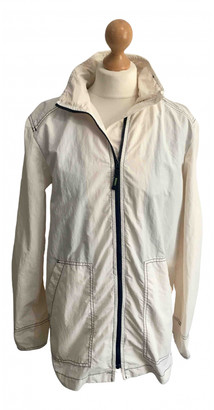 Lacoste White Polyester Jackets