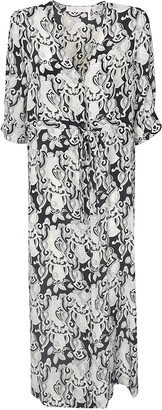 See by Chloe All-over Printed V-neck Dress
