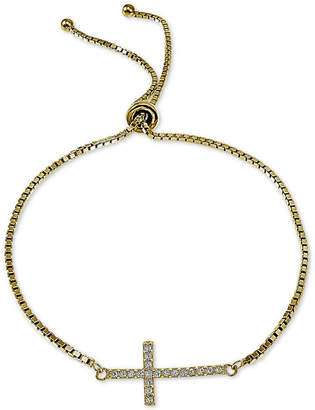Giani Bernini Cubic Zirconia East-West Cross Bolo Bracelet