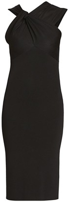 Victoria Beckham Knotted Drape Sheath Dress