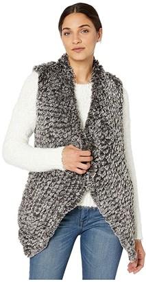 Love Token Kiera Faux Fur Vest (Charcoal) Women's Clothing