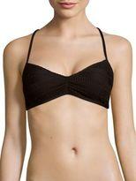 Splendid Textured Halterneck Bikini Top