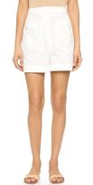 Tibi Seersucker Shorts