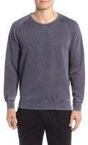 Daniel Buchler Men's Washed Cotton Blend Long Sleeve Crewneck T-Shirt