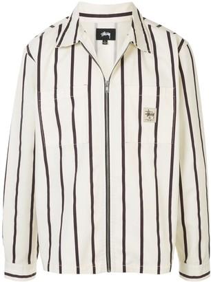 Stussy Striped Shirt Jacket