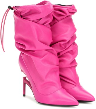 Unravel Leather ankle boots