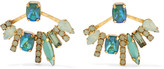 Elizabeth Cole Hyde gold-plated, Swarovski crystal and stone earrings