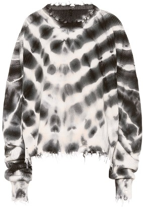 Unravel Tie-dye cotton and cashmere sweater