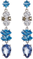 Judith Jack Sterling Silver Multicolor Crystal & Marcasite Drop Earrings