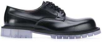 Bottega Veneta translucent-sole Derby shoes