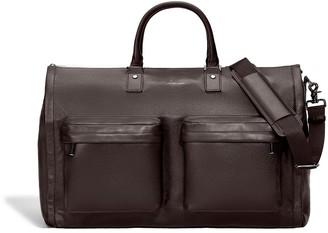 hook + ALBERT Hook & Albert Mens Espresso Brown Leather Garment Weekender Bag