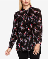 Vince Camuto TWO by Printed High-Low Blouse