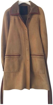 Fendi Yellow Shearling Coats