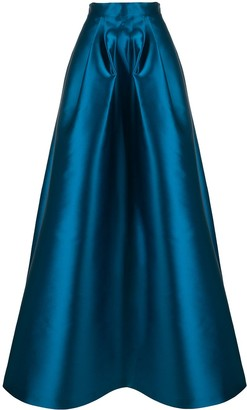 Alberta Ferretti Silk Satin Full Skirt