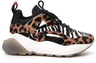 Stella McCartney Eclypse Leopard Print Lace Up Sneakers