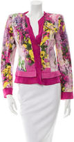 Roberto Cavalli Linen Floral Print Jacket
