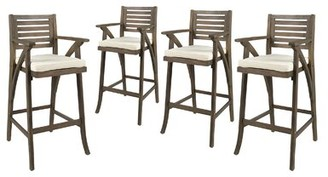"Garrido 30"" Patio Bar Stool with Cushion Gracie Oaks"