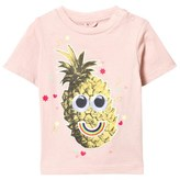 Stella McCartney Pink Tee with Pineapple Print