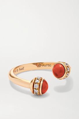 Piaget Possession 18-karat Rose Gold, Carnelian And Diamond Ring