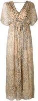 Mes Demoiselles palm print maxi dress - women - Cotton/Lurex/Viscose - 36