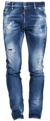 DSQUARED2 Cool Guy Country Wash Distressed Paint Splatter Jeans