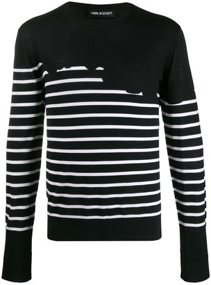 Neil Barrett Striped Regular-Fit Jumper