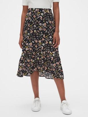 Gap Ruffle Midi Skirt