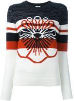 Kenzo striped flower jumper