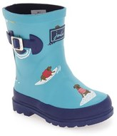 Joules Toddler Boy's 'Welly' Print Waterproof Rain Boot