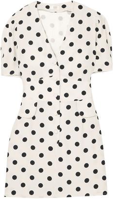 Rixo Laura Polka-dot Crepe Mini Dress