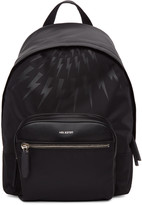 Neil Barrett Black Thunderbolt Day Backpack