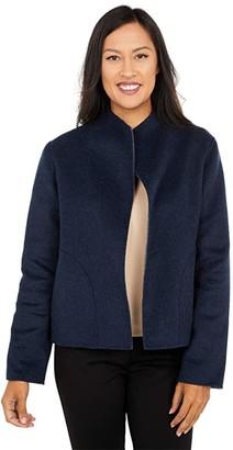Pendleton Double Face Short Jacket (Navy Heather/Grey Heather) Women's Coat