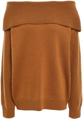 Diane von Furstenberg Off-the-shoulder Wool And Cashmere-blend Sweater