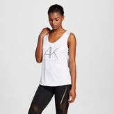 C9 Champion Limited Edition by Anna Kaiser Women's Mesh Back Graphic Tank Top - White - Anna Kaiser for C9 Champion®