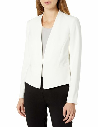Nine West Women's BI Stretch Solid KISS Front Jacket