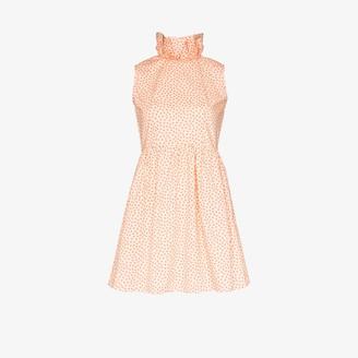 Batsheva Prairie ruffle collar cotton mini dress