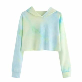 MERICAL Women's Sweatshirt Long Sleeve Hoodie Printed Patchwork UK Flag Tab Pullover Tops Blouse (UK-22/CN-2XL