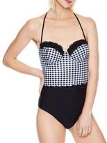 Betsey Johnson One-Piece Checkered Swimsuit