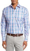 Peter Millar Men's Holiday Regular Fit Plaid Sport Shirt