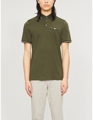 Ted Baker Contrast-trim cotton polo shirt