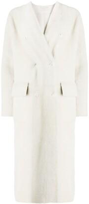 Inès & Marèchal V-neck shearling coat