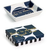 "The Well Appointed House Rosanna Tray Chic Blue & White ""Paris Is Always A Good Idea"" Decorative Tray - IN STOCK IN OUR GREENWICH STORE FOR QUICK SHIPPING"