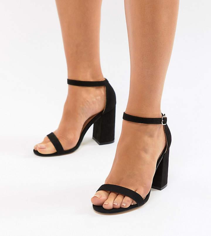 Wide Fit Block Heeled Sandals