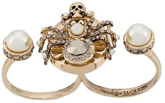 Alexander McQueen Spider double-ring